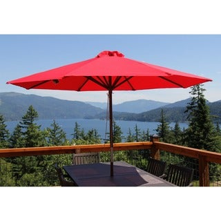 Classic Wood 9-foot Market Umbrella