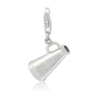 Gioelli Sterling Silver 'GO TEAM' Megaphone Charm