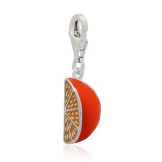 Gioelli Sterling Silver Enamel Orange Slice Charm