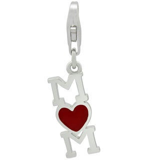 Gioelli Sterling Silver Heart Mom Charm