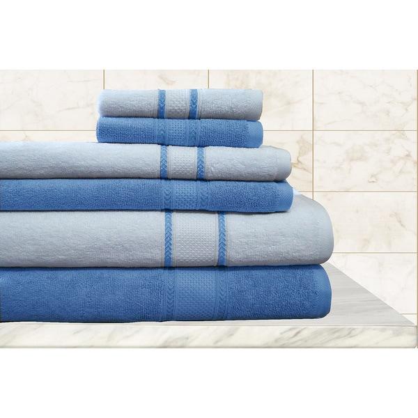 Shop Quick Dry Egyptian Cotton Striped 6 Piece Towels Set
