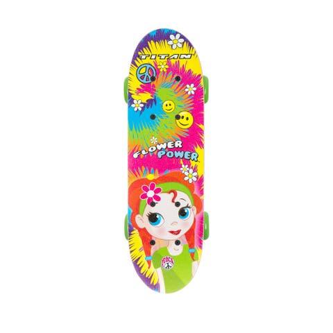 Titan Flower Power 17-inch Complete Skateboard for Girls