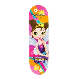 Titan Flower Princess Pink Girls 28-Inch Skateboard