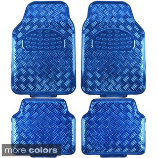 BDK Metallic Automotive Floor Mats (Set of 4)