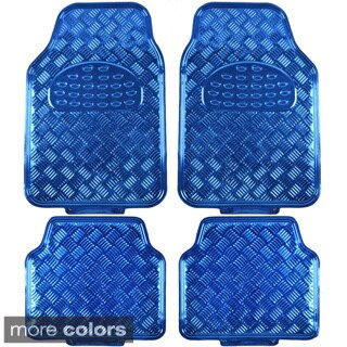 BDK Metallic Automotive Floor Mats (Set of 4) (Option: Blue)