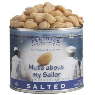 Feridies Nuts About My Sailor Salted Peanuts 9-ounce Can