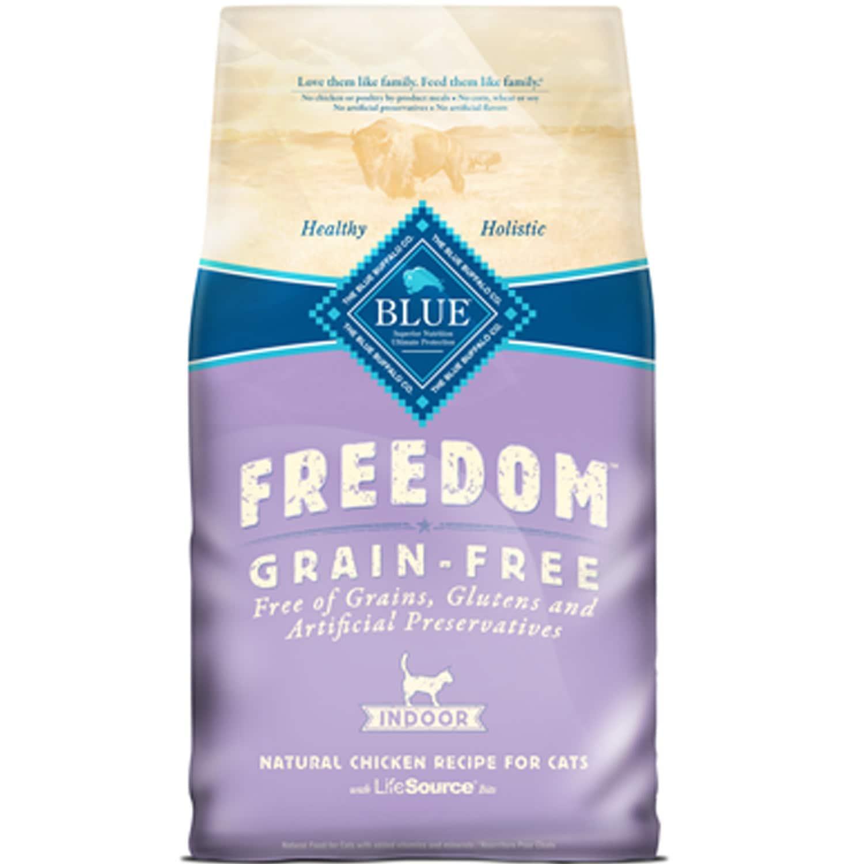 Shop Blue Buffalo Freedom Grain Free Indoor Chicken Recipe Adult Dry Cat Food Overstock 9634326