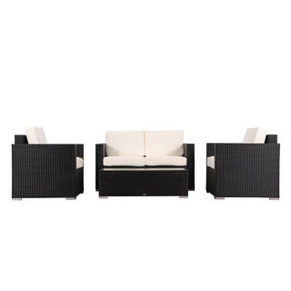 BroyerK 4-piece Outdoor Rattan Patio Furniture Set