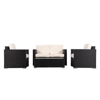BroyerK 4-piece Outdoor Rattan Patio Furniture Set