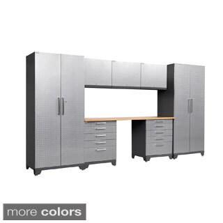 NewAge Products Performance Plus Diamond Plate 8-piece Cabinet Set
