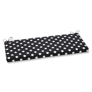 Pillow Perfect Polka Dot Black Bench Cushion