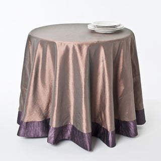 Monotone and Two-tone Tablecloths with Crushed Border