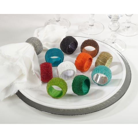 Beaded Napkin Ring (set of 4)