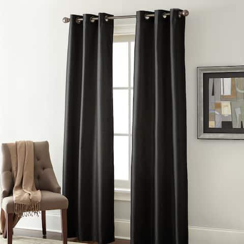 Modern Threads Faux Silk Blackout Curtain Panel Pair