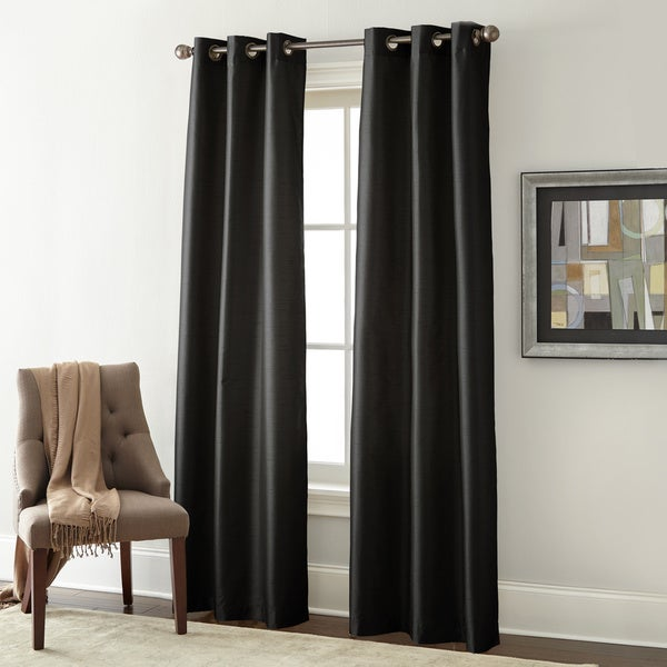 Faux Silk Blackout Curtain Panel Pair - Free Shipping On Orders ...