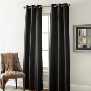 Faux Silk Blackout Curtain Panel Pair
