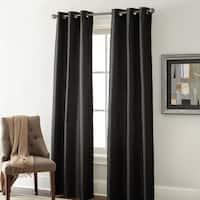 Amrapur Overseas Faux Silk Blackout Curtain Panel Pair