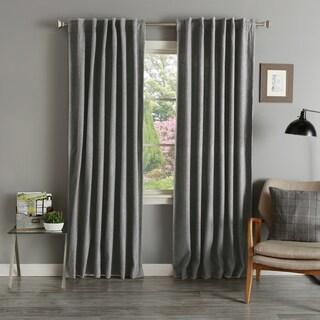 Aurora Home Grey Wool 84-inch Curtain Panel Pair