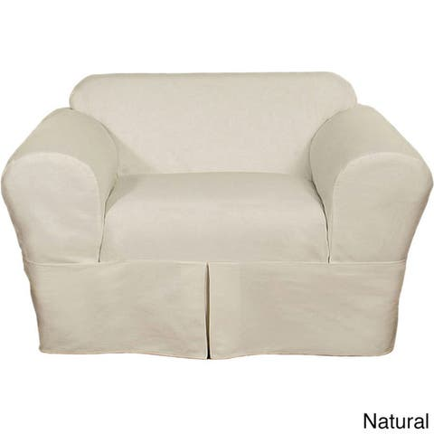Classic Slipcovers Two Piece Twill Chair Slipcover