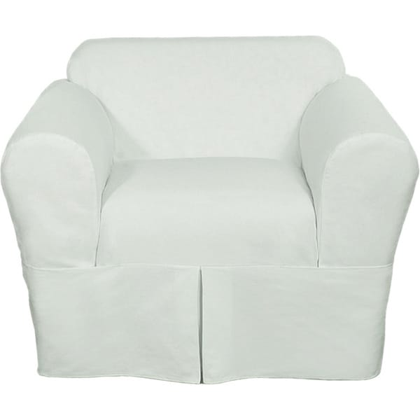 Classic Two Piece Twill Chair Slipcover