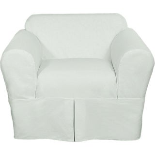 Classic Two-piece Twill Chair Slipcover