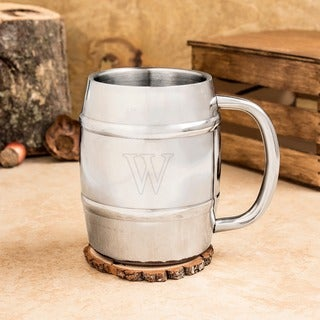 Personalized 14 oz. Double-wall Beer Keg Mug