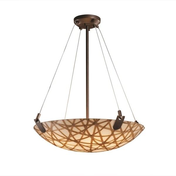 Justice Design Group 3form U-Clips 6-light Dark Bronze Round Bowl Pendant, Connection Shade