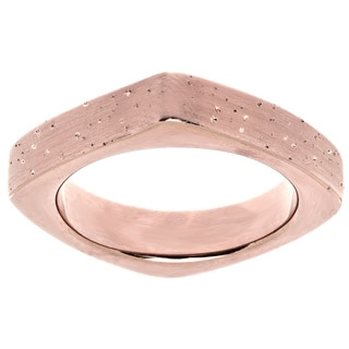Rose Gold over Sterling Silver Stardust Square Stackable Ring