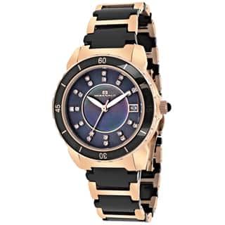Oceanaut OC2412 Women's Charm Round Two-tone Bracelet Watch|https://ak1.ostkcdn.com/images/products/9634768/P16819736.jpg?impolicy=medium