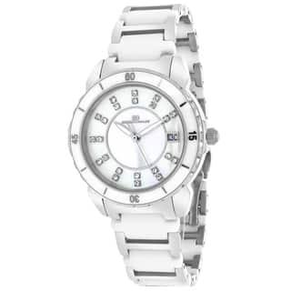 Oceanaut OC2411 Women's Charm Round Two-tone Bracelet Watch|https://ak1.ostkcdn.com/images/products/9634769/P16819737.jpg?impolicy=medium
