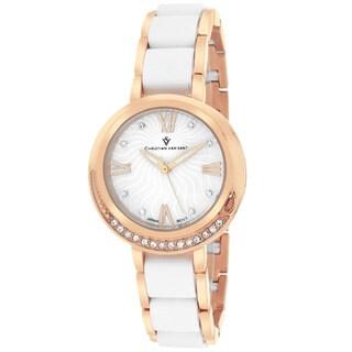Christian Van Sant CV7612 Women's Eternelle Round Rose gold Bracelet Watch