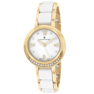 Christian Van Sant CV7611 Women's Eternelle Round Gold-tone Bracelet Watch