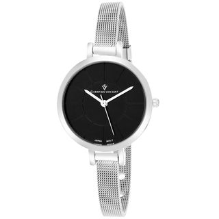 Christian Van Sant CV6611 Women's Skinny Round Silver Bracelet Watch