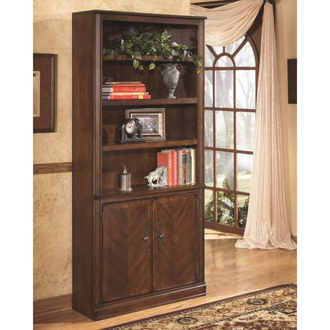 Hamlyn Traditional Large Door Bookcase Medium Brown