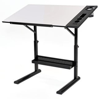 Martin Universal Design Alyssia White Drafting Table