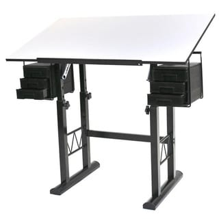 Martin Universal Design Liz White Top Drafting and Hobby Craft Table
