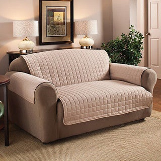 Microfiber Quilted Stitch Water Repellent Sofa Cover