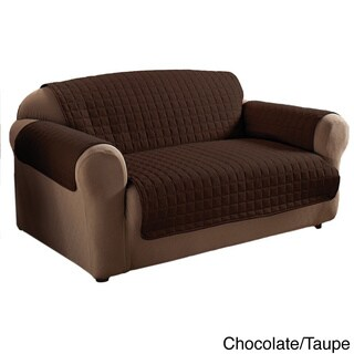 Quilted Reversible Loveseat Protector