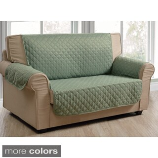 Quilted Microsuede Water-repellent Loveseat Protector