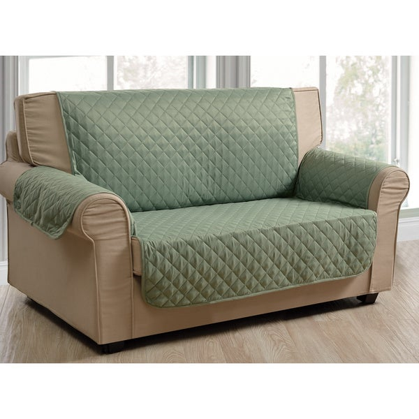 Shop Quilted Microsuede Water Repellent Loveseat Protector