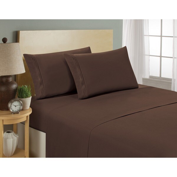 Reviews On Hotel Collection Bedding: Shop Matisse Hotel Collection Microfiber 4-piece Bed Sheet