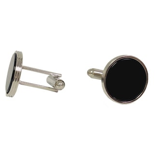 Ike Evening by Ike Behar Jet Black Cufflink Stud Set