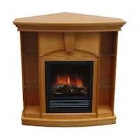 Wessex Medium Walnut/ Oak Corner Curio Fireplace