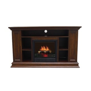 Boston Oak Veneer Media Fireplace