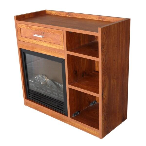 Baymont Golden Oak Electric Fireplace Free Shipping