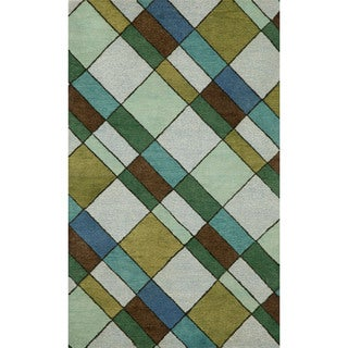 Blocks Driftwood Indoor Rug (8' x 10')