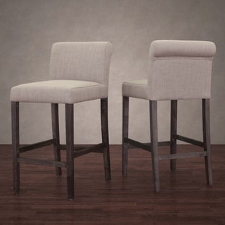 Cosmopolitan Beige Linen Counter Stool (Set of 2)