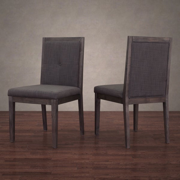patterson smoke linen dining chairs set of 2 free shipping today