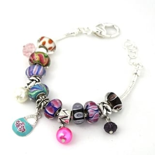 Bleek2Sheek 'Rainbow' Multi-themed European-style Charm Bracelet