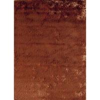 Silky Shag Orange Hand-crafted Area Rug - 5' x 8'